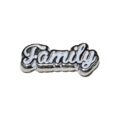 Family in White 11mm floating locket charm